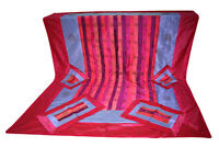 Thai Bedspread Bed Cover Traditional Brocade Silk Brand Suit Queen Size Bed