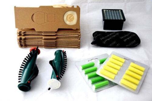 44 tlg.Servicebox geeignet für  Vorwerk Kobold 130//131//131 SC Tüten Duft Bürsten