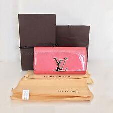 AUTH LOUIS VUITTON Louise Wallet Patent Leather Poppy Pink M 61581 NIB Ltd. Ed