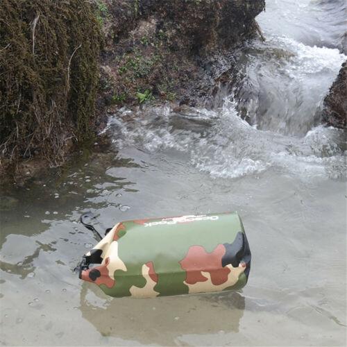 Waterproof Dry Bag Outdoor Sport Swimming Rafting Kayaking Sailing Camo Backpack