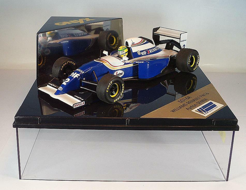 Onyx 1 24 Williams Renault FW 16 Formula 1 Driver  Ayrton Senna in Box