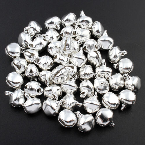 96 Stück Glöckchen Schellen 17mm Durchmesser Silbern Glocken Jingle Bells