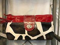 Giraffe Designer Red Clutch Handbag Purse