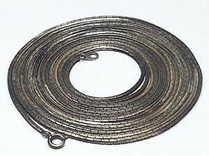 202-cm-lange-835-Silber-Kette-punziert-Art-Deco-40er-60er-Jahre-A-101