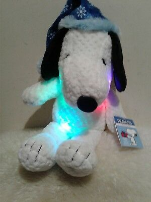 """Peanuts Snoopy Light Up Musical Christmas Stocking plays /""""Linus /& Lucy/"""" NWT"""