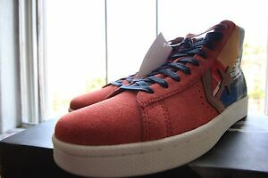 DS Red Converse Pro All Star Leather New York Crew Stussy Patch Size ... 75136ff0ff