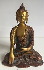 Antique Buddha Medicine Large Budha Brass 6'' HEAVY Meditation handmade