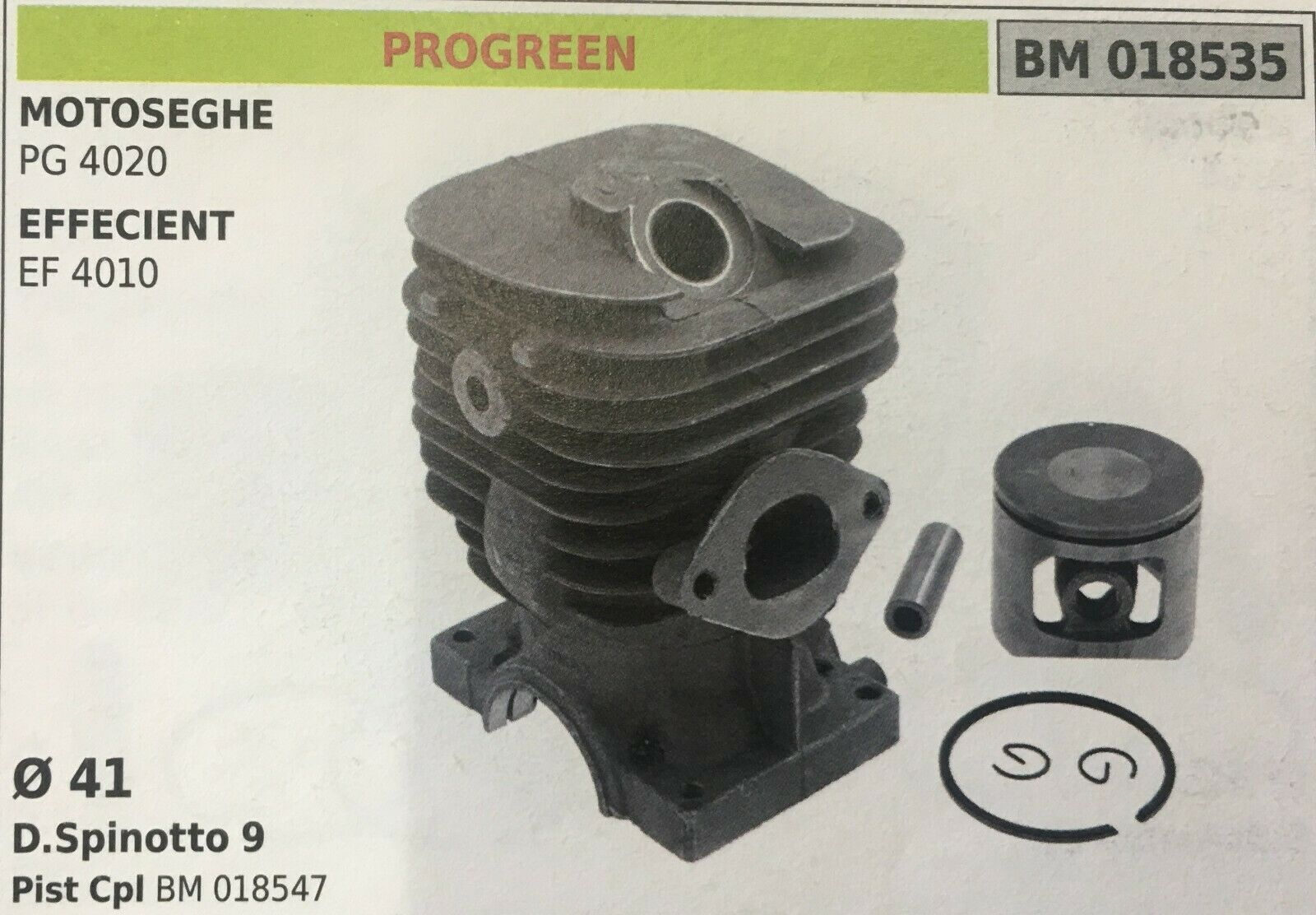 Cilindro Completo por Pistón y Segmentos Brumar BM018535 Proverde