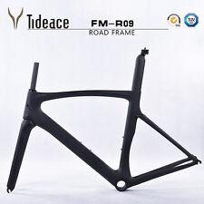 Full Carbon Matt Road Bike Bicycle Frame Fork Seatpost Clamp Headset Cage - 54cm
