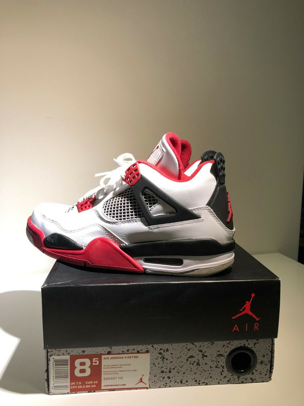 24e608096 AIR JORDAN 4 2012 RELEASE FIRE (US 8.5) RETRO RED nupebz1922-Athletic Shoes