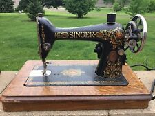 1910 SINGER Sewing Machine with Wood Cabinet ~ Bad Motor -G 48973