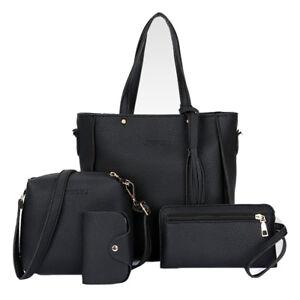 Set-of-4pcs-Women-PU-Leather-Handbag-Shoulder-Bag-Tote-Purse-Messenger-Gift-bag