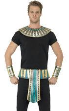 Egyptian Cleopatra Kit Belt Collar Cuffs Ladies Mens Gold Fancy Accessory Kit