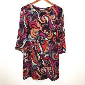 8bc9e5580188f Image is loading Maeve-Anthropologie-Womens-Dress-XS-Retro-Swirl-Shift-