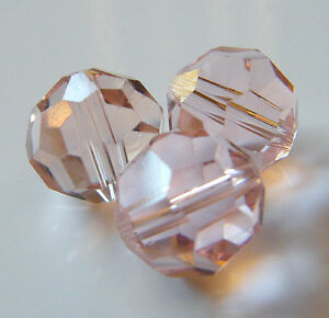 30pcs-12mm-Faceted-Round-Crystal-Beads-Pale-Peach