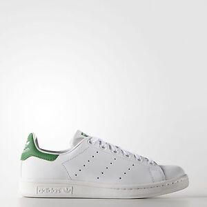 adidas Originals Kids' Stan Smith Leather White/Green Comfort Shoe