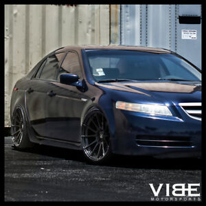 Acura Tl Wheels >> Details About 19 Mrr Ground Force Gf6 19x8 5 Black Concave Wheels Rims Fits Acura Tl
