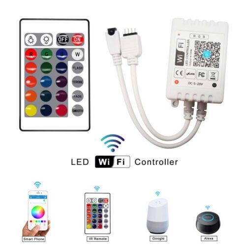 5//10M RGB 5050 LED Wifi Strip Lights DC 12V Smart Home App for Alexa Google Home