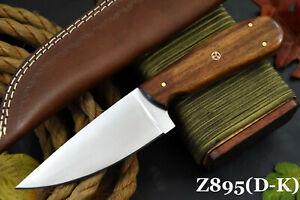 Custom Ball Bearing 52100 Steel Hunting Knife Handmade, No Damascus (Z895-F)