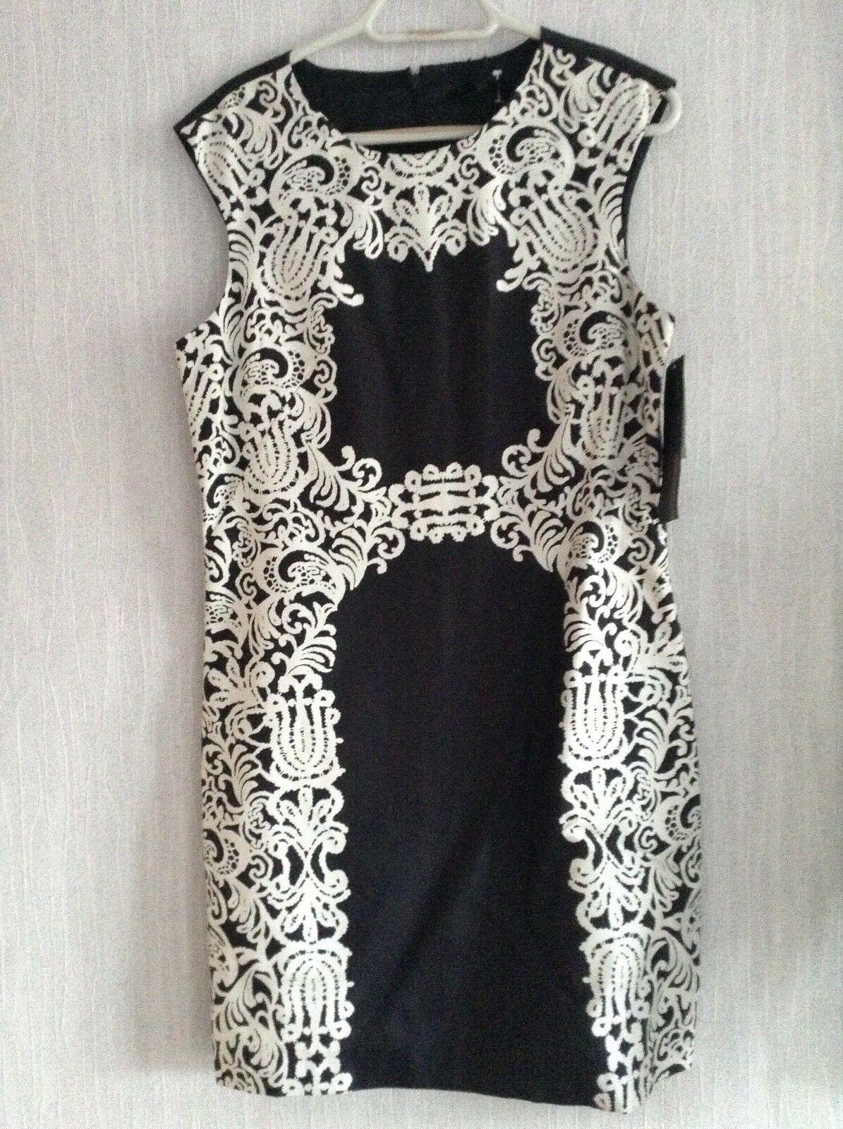 TIBI New York Da Donna cuciti SETE SILK Shift Dress nuovo con etichetta