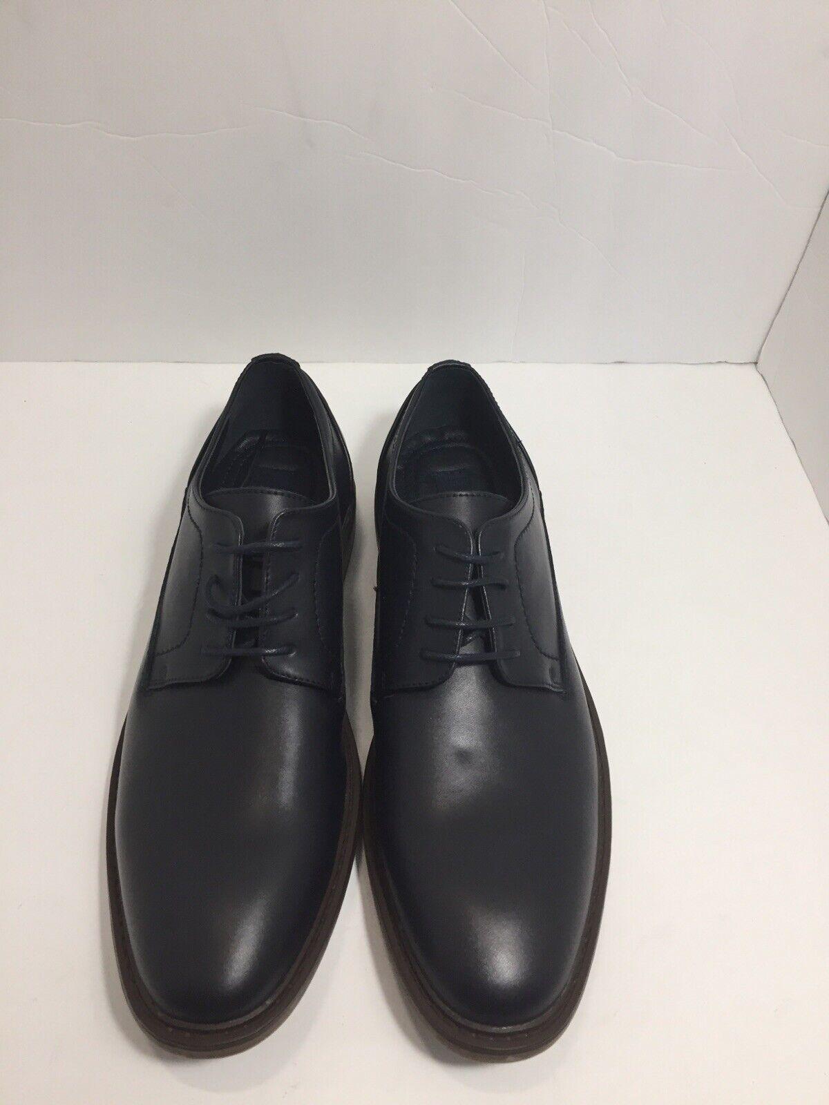 Joseph Abboud Blue Leather Lace Up Oxfords Casual Dress Shoes Greyson Size 9.5US