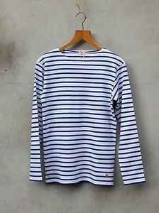 Heritage Breton Top by Armor-lux - White and Star Blue