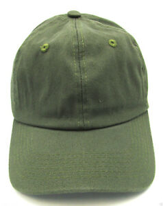 Olive Ball Cap Unstructured Dad Hat 100%cotton Adjustable OSFM ... 742060ebf43