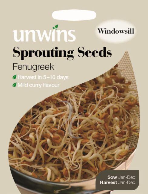 Unwins Pictorial Packet - Sprouting Seeds Fenugreek  - 1600 Seeds