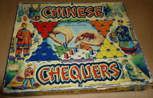 Vintage-Chinese-Chequers-Board-Game-by-J-amp-L-Randal-Merit-1960-039-s