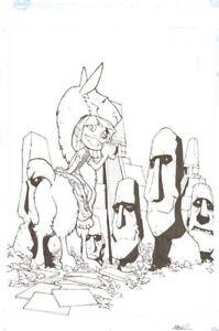 Easter Island Publiziert? Abdeckung - Unterzeichnet Kunst Von Humberto Ramos