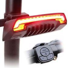 1Pcs USB Bike Bicycle Indicator Signal LED Rear TailLight Wireless Remote 2Laser