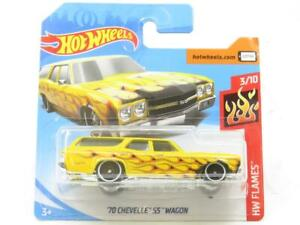 Hotwheels-70-Chevelle-Ss-Wagon-3-10-56-250-tarjeta-corta-llamas-1-escala-64-Sellado