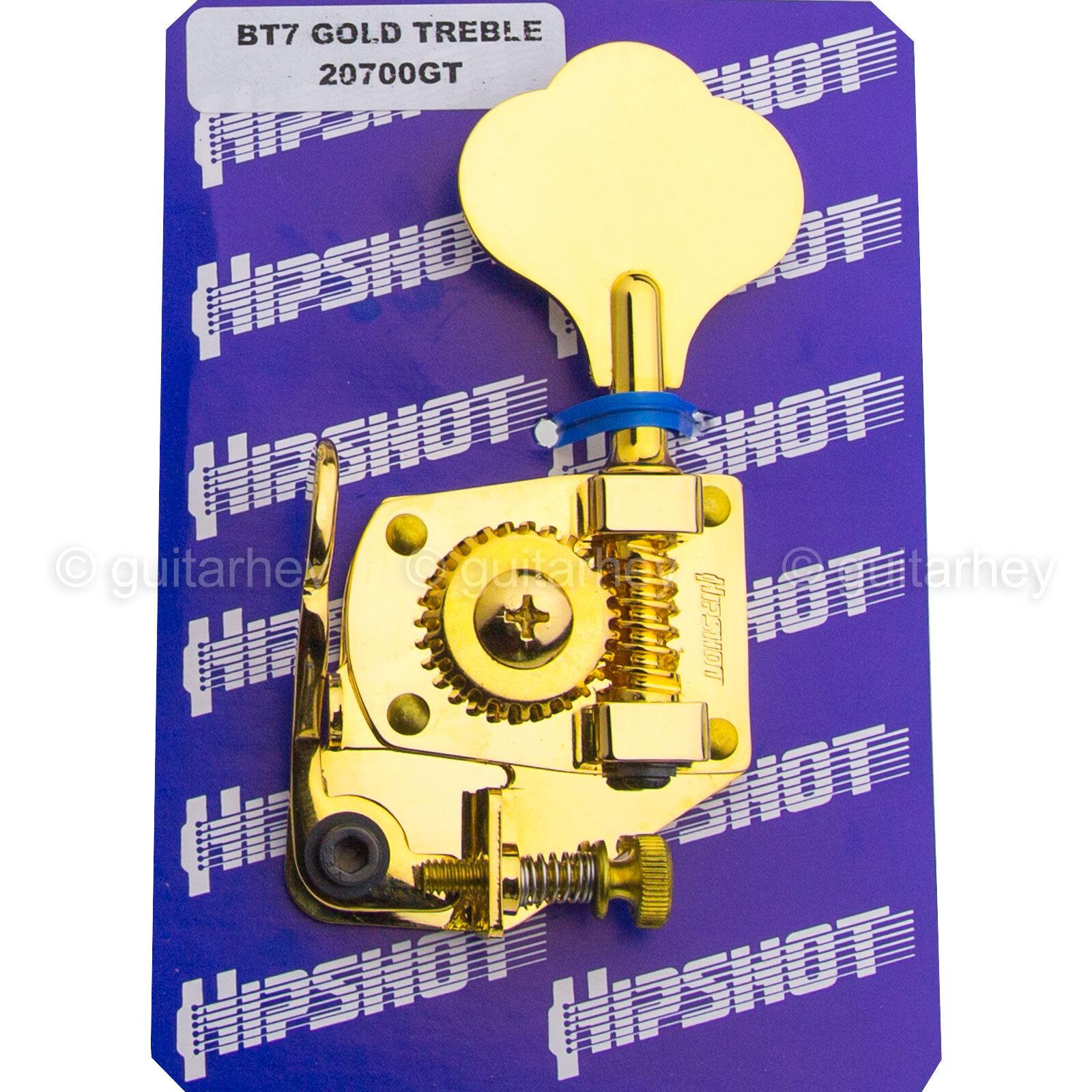 NEW Hipshot BT7 Bass Xtender Key TREBLE SIDE MIM Fender Extender Detuner - GOLD