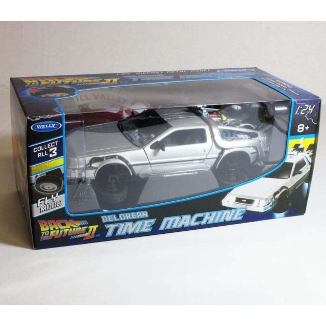 Welly 2241FV Back To The Future BTTF 2 Flying Version Delorean 124 Model Car