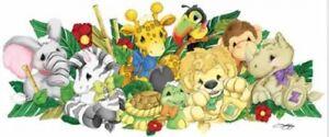 Zootles Peel Stick Jumbo Mural Applique Baby Safari Zoo Animals