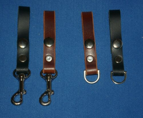 Key Ring Hand Made Belt Loop Accessory Hook C7 Real Leather Key Holder