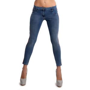 New Yakuza Ladies Track Jeggings Jeans - Light Vintage