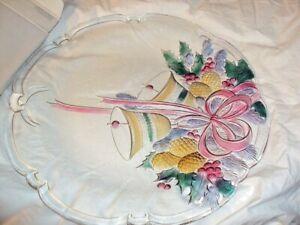 Vintage Mikasa Festive Xmas Hollydays Bells 14 3/4 Hostess Platter NIB New