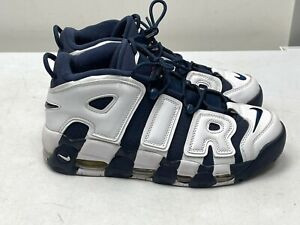 RARE NIKE AIR MORE UPTEMPO TRAINERS, UK9 BLUE/WHITE, 414962 104