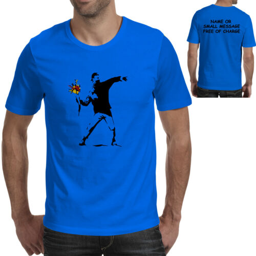 Flower Thrower Banksy  T-Shirt Cool  Urban Graffiti Art Design