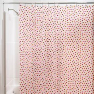 Shower Curtains Pink And Brown.Interdesign 13 Piece Peva Dotz Shower Curtain Set 70 By 71 Inch Pink