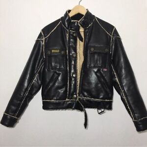 e9cfa6e2abc7 Image is loading Belstaff-Motorcycle-Jacket-Large-Authentic-Gold-Label-Faux-