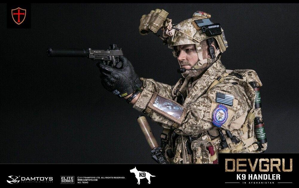1//6 scale Dam Toys Navy Seal DEVGRU K9 Handler in Afghanistan Brown Combat Boots