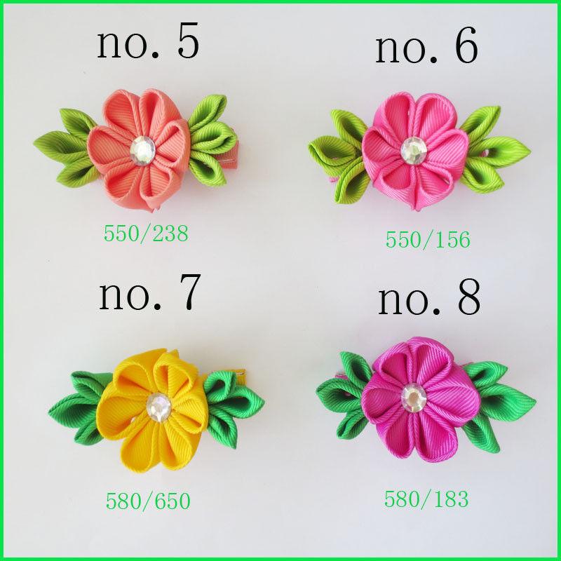 "50 BLESSING Good Girl 3/"" Plum Blossom Clip Grosgrain Ribbon Accessories"