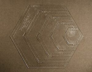 1 8 clear acrylic laser cut quilting template hexagon for 1 5 inch hexagon template