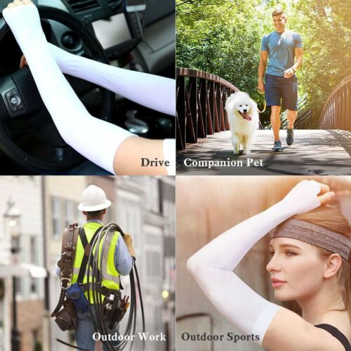 US Cooling Athletic Sport Skins Arm Sleeves Gloves Sun UV Protective Cycling Lot