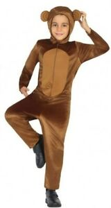 Garçons Filles Jungle Singe Animal Carnaval Fancy Dress Costume Outfit 3-12 Ans-afficher Le Titre D'origine