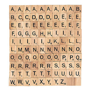 100 x wooden scrabble tiles letters magnets pendants craft 1