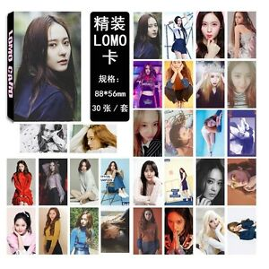 Details about New 30pcs set Kpop FX Krystal Personal PhotoCard Picture  Poster Lomo Card