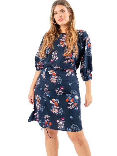 Koko Womens Plus Size Floral Adjustable Front Dress